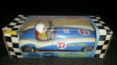 Vintage tin yone friction powered king cobra race car made in japan | eBay