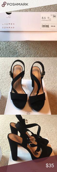 Lauren Conrad Black high heels 8.5