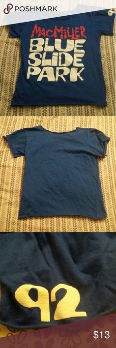 Mac Miller Blue Slide Park Tee Super soft Mac Miller tee with 92 on one sleeve Tops Tees - Short Sleeve