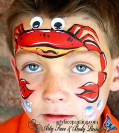 Arty Face and Body Painting || crab