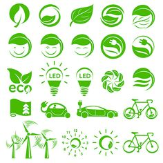 Ecology simple icons set by Juliars on Web Design Icon, Layout Design, Graphic Design, Water Logo, Simple Icon, Leaves Vector, Visual Diary, Coreldraw, Corporate Design