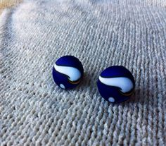 Minnesota Football Fan Earrings Fabric Button by ButtonsAFluttur, $6.00