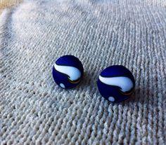 Minnesota Football Fan Earrings, Fabric Button Earrings Handcrafted with Minnesota Vikings Fabric, Stud Earrings on Etsy, $6.00
