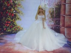 "Wedding gown for Ellowyne 16""Tonner doll"