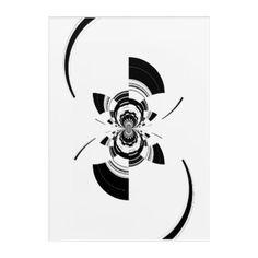 #black - #Black Fractal Acrylic Print