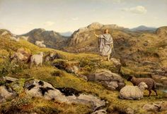 David in the Wilderness, with sheep..jpg