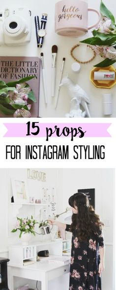 Are you looking for ways to make your home decor Instagram images pop? Here are my favorite 15 photo shoot styling props for Instagram!