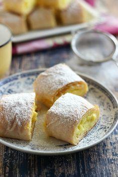 Juditka konyhája: ~ PUDINGOS RÉTES ~ Strudel, Pretzel Bites, Cornbread, Camembert Cheese, Dairy, Pudding, Sweets, Cookies, Cake
