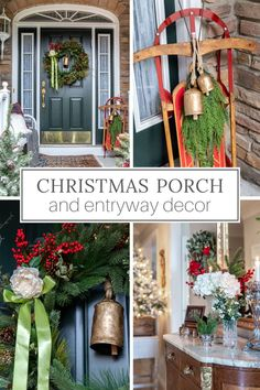 If you're looking for Christmas porch decorations for a welcoming entryway, you'll love these front door Christmas decorations and Christmas porch ideas. ----- #christmasporchdecor #christmasporch #christmasporchdecoratingideas #christmasentrywaydecor #frontdoorchristmasdecorations #designthusiasm Front Door Christmas Decorations, Christmas Porch, Christmas Design, Outdoor Christmas, Holiday Decor, Porch Decorating, Decorating Ideas, Decor Ideas, French Country Christmas