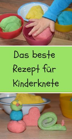 im herbst wird bei uns viel geknetet und weil wir unsere knete gerne selber mach. in the autumn, we knead a lot and because we like to do our own dough I have here for you the best recipe for kneadi Diy Bebe, Maila, Infant Activities, Diy Crafts For Kids, Kids And Parenting, Holiday Crafts, Kids Meals, Cool Kids, Good Food