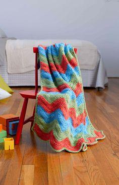 Simple Ripple Baby Afghan Pattern (Crochet) - Lion Brand Yarn
