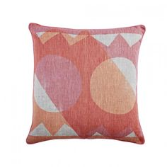 Bonnie and Neil - Shapes-Pink-Peach Bonnie And Neil, Peach, Cushion, Pillows, Peaches, Fishing