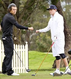 Harry Styles and Niall Horan played a round of golf in Adelaide, Australia.