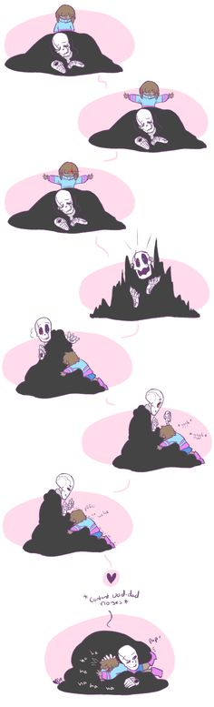 frisk and gaster - hugs by QueensDaughters.deviantart.com on @DeviantArt