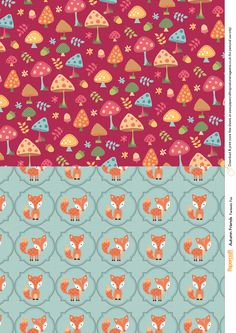 Get funky with these cute fox characters and mushroom papers. Download the digital papers free from the Papercraft Inspirations website.