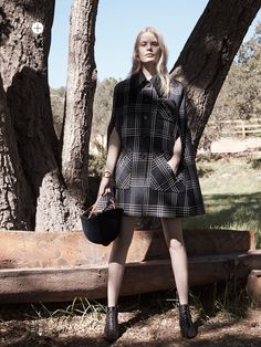 Alena Blohm by Liz Collins for Elle US May 2015 - Miu Miu Pre Fall 2015
