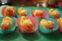 Marzipan - brood of chicks