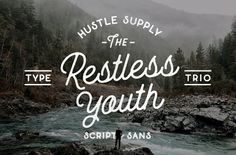 Restless Youth Bundle The Restless Youth Bundle is comprised of 4 font files & 3 different type styles. Each can be paired together for an outstanding look! It's perfect for Logotypes & Type