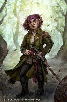 ArtStation - Gnome Bard, Hannah Kennedy Dungeons And Dragons Art, Dungeons And Dragons Characters, Dnd Characters, Fantasy Characters, Fictional Characters, The Elder Scrolls, Fantasy Heroes, Fantasy Rpg, Fantasy Character Design