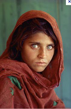"""Afghan Girl"" - (Portrait of Sharbat Gula) By Steve McCurry - 1984"