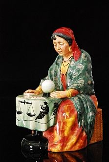 Fieldings Auctioneers A Royal Doulton figurine entitled Fortune Teller