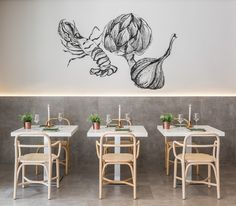 Spanish firm estudiHac designed this restaurant in Valencia, using traditional materials such as marble and copper. There's a beautiful simplicity and honesty in the design that feels so effortless Luxury Restaurant, Restaurant Concept, Restaurant Interior Design, Cafe Bar, Café Design, Coffee Shop Design, Design Furniture, Commercial Design, Retail Design