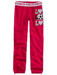 Girls Clothing   Glitter Sports   Sports Fleece Cuff Sweatpants   Shop Justice