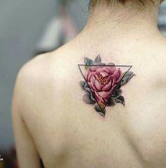 #Tattoo #Flower #Rosa #Triangolo