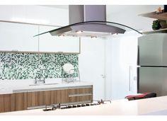 Cozinha com pastilhas verde