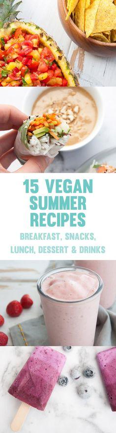 15 Easy Vegan Summer Recipes #vegan #summer #recipes via @elephantasticv