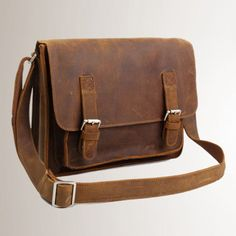 Leather Messenger Bag - Mens Leather Briefcase Laptop Bag -  if a better price could be found...