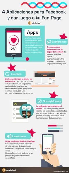 4 aplicaciones para tu fan page en Facebook #Infografía