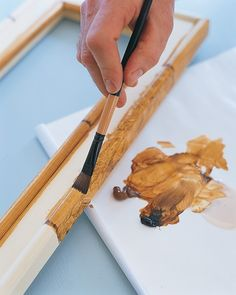 Drag 1/2-inch brush in one motion through wet paint again to create striations. Repeat with remaining pairs of joints. Let dry overnight. To finish, apply two or three coats of polyurethane, following manufacturer's instructions.
