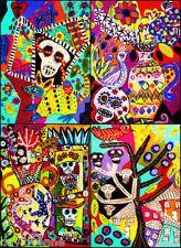 Sandra Silberzweig - 8 X 10 Canvas Print - Day Of The Dead Village Scenes