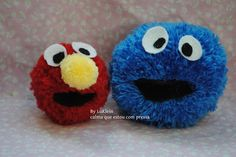 Sesame street Characters with Pompoms