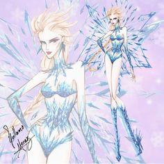 Elsa Disney Princess Victoria Secret Fashion by Guillermo Meraz