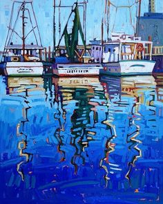 """""""Light and Water"""" by René Wiley by Rene' Wiley Gallery Oil ~ 30 x 24 Landscape Art, Landscape Paintings, Boat Art, Boat Painting, Guache, Nautical Art, Paintings I Love, Ship Art, Cool Artwork"""