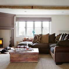 country home living rooms | Warm and cosy living room | Living room decorating | Country Homes ...