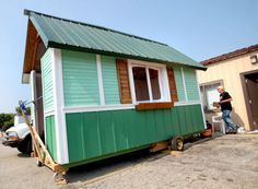 Occupy Madison Tiny Home, Tiny houses, small houses, houses for homeless, humanitarian design, recycled building materials, repurposed mater...