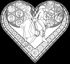 Stained Glass Coloring Page: Frosted Love by Akili-Amethyst on deviantART