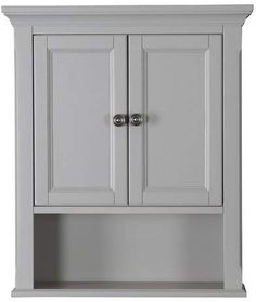 The Twillery Co. Sebago 24 W x 28 H Wall Mounted Cabinet Bathroom Cabinets Over Toilet, Grey Bathroom Tiles, Grey Tiles, Bathroom Medicine Cabinet, Cabinet Shelving, Shelves, Cabinet Hardware, Amazing Bathrooms, Bed & Bath