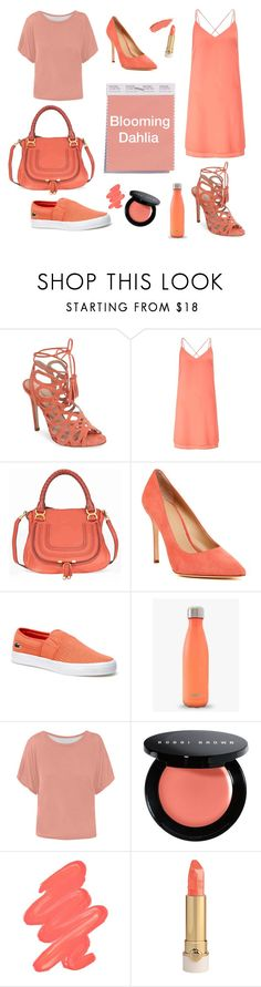 """""""blooming dahlia"""" by kat-galarraga ❤ liked on Polyvore featuring Charles David, Miss Selfridge, Chloé, Pour La Victoire, Lacoste and Obsessive Compulsive Cosmetics"""