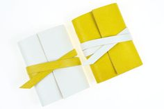 Leather Mini Journal: Lemon Yellow White small by SusanGreenBooks Wedding Favors, Party Favors, Happy Sunshine, Country Living Magazine, Small Notebook, Mothers Day Presents, Memory Books, Lemon Yellow, Handmade Items