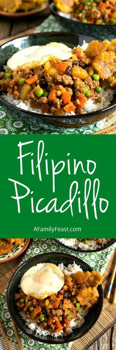 Mechado filipino beef stew recipe pinterest marinated beef filipino picadillo a delicious one skillet dinner made with ground beef potatoes forumfinder Image collections
