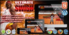 Buy Ultimate Swish - Sport Game by codethislab on CodeCanyon. Ultimate Swish is a Basketball game. Click the screen or press spacebar to stop the ball indicators and shot t. Basketball Games, Sports Games, Baskets, Button Game, Social Share Buttons, Web Design Tutorials, Arcade Games, Goals, Physics