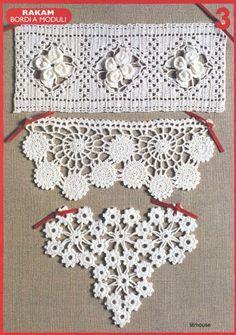 "Photo from album ""узоры крючком"" on Yandex. Crochet Borders, Crochet Chart, Crochet Trim, Love Crochet, Filet Crochet, Irish Crochet, Crochet Motif, Crochet Flowers, Knit Crochet"