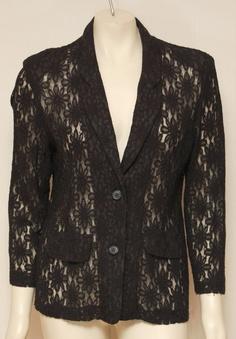 Vintage Black Lace Blazer by clothrevival on Etsy, $53.00
