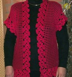 Büyük beden bayan örgü yelek modelleri Crochet Toddler, Crochet Girls, Crochet Woman, Crochet Top, Gilet Crochet, Crochet Cardigan, Crochet Stitches, Crochet Bedspread Pattern, Knitting Patterns