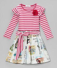 Million Polkadots Fuchsia Vivi A-Line Dress