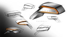 Lincoln MKX Concept - Sideview Mirror Ideation design sketches